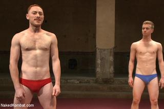 nude male wrestlers battle