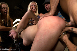 blonde stripped nude roped