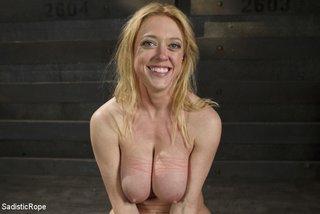 hot blonde roped big