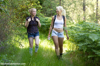 hot blondes caught outdoor