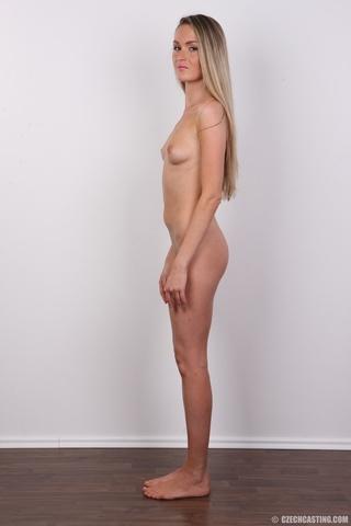 Skinny Blonde Riding Dildo