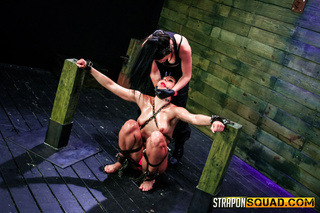 red head submission hogtied