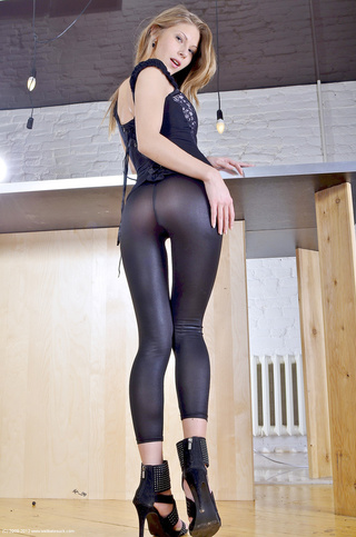 blond wearing tights skin