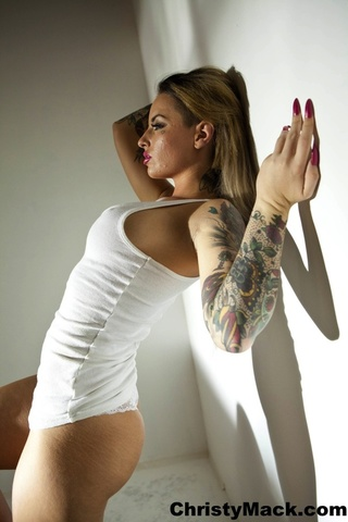 gorgeous hottie posing seductively