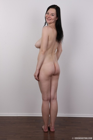 long-haired brunette chick natural