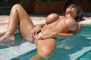 busty milf yellow bikini