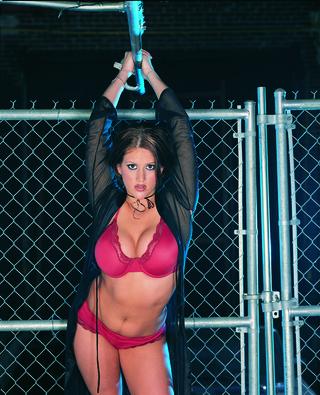 boobilicious brunette red lingerie