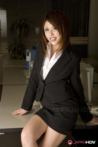 office girl glasses wearing