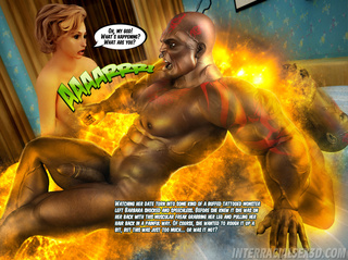 black lad furious monster