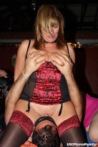Mistress in rubber bondage