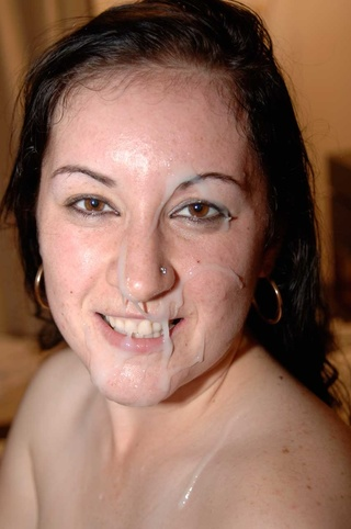 Hot mature facial