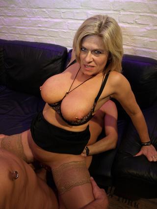 busty mature blondie piercing
