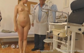 sweet naked babe stands