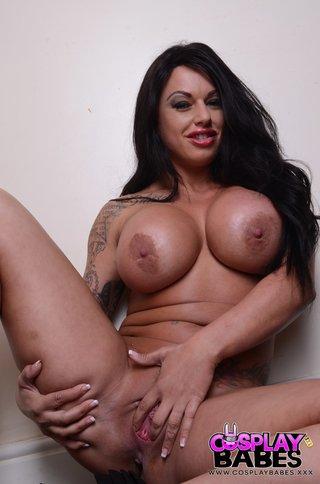 inked brunette huge boobs