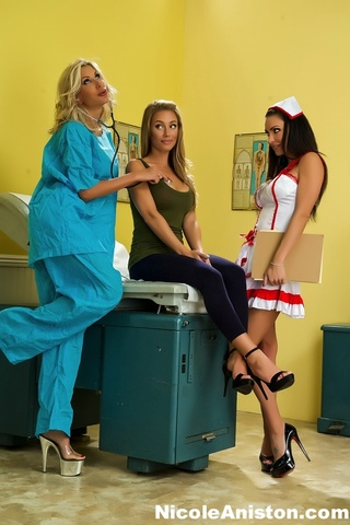 luscious nurse sexy red