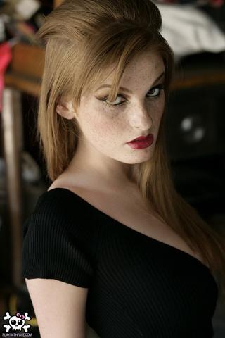 boobilicious freckled redhead black
