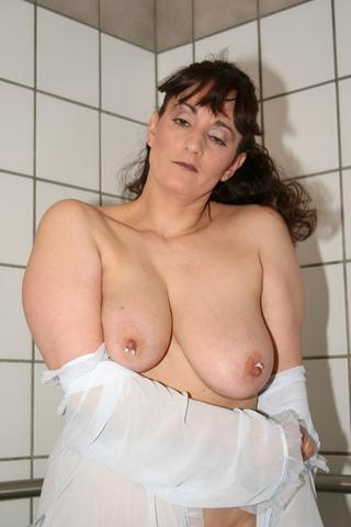 brunette milf communal shower