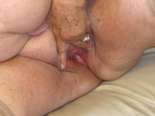 mature lady takes shiny