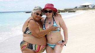 amateur, beach, mature, white