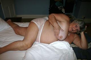 nasty granny shows huge