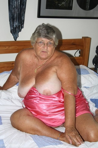 sweet grandma poses white