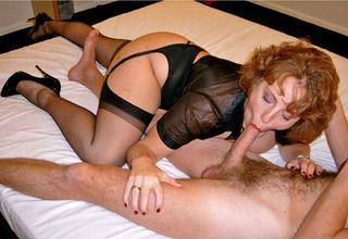 redhead cougar seduces skinny