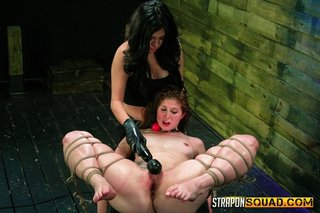 raven-haired sluts strapons dominated