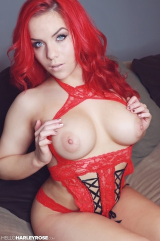 alluring red haired babe