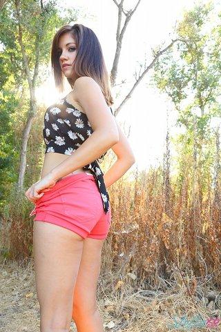 babe, individual model, shorts, white