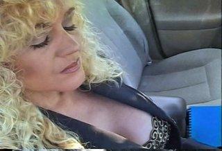 horny blonde darling smokes