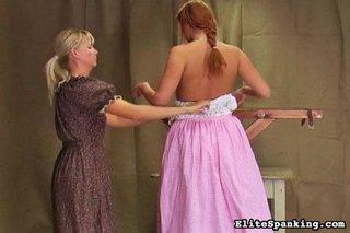 dress, princess, redhead, spanking