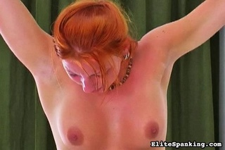 red-haired cutie gladly punished