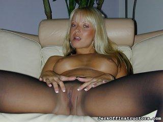 blonde, pantyhose, pussy
