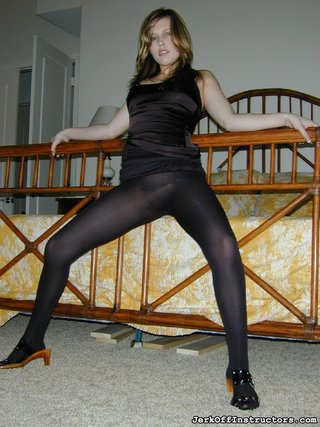 babe, black, pantyhose, seduce