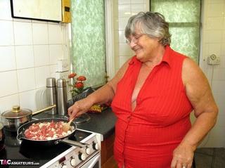 big fat grandma cooking