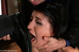 shoe-licking slut dark hair