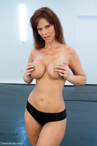 mature domme red stockings