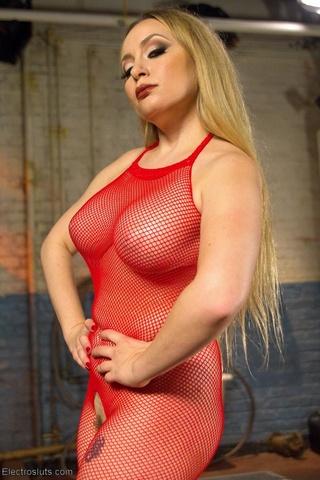 mature mistress red fishnets
