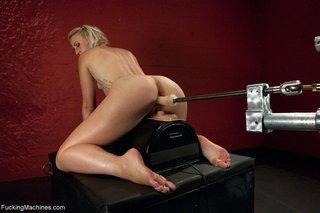 blonde, fucking machines, legs