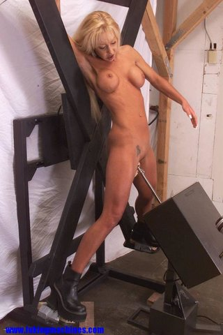 blonde, fucking machines, kinky, model