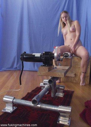 blonde, fucking machines, riding, toys