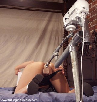 asian, brunette, drilled, fucking machines