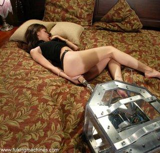 brunette, fucking machines, toys