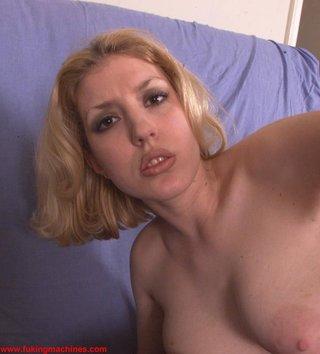 blonde, fucking machines, toys
