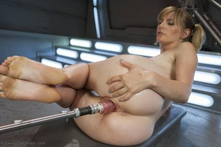 blonde, fucking machines, squirt