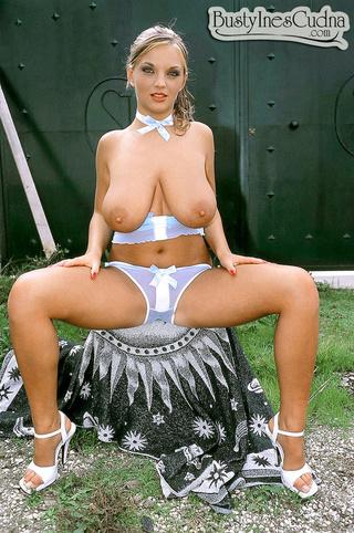slim curvy brunette massive
