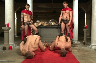 roman gay threesome hung