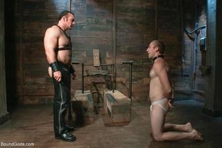 handsome slave tied banged