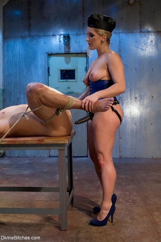 man chains subjected spanking