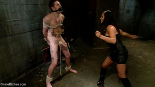 dark-haired domme young submissive